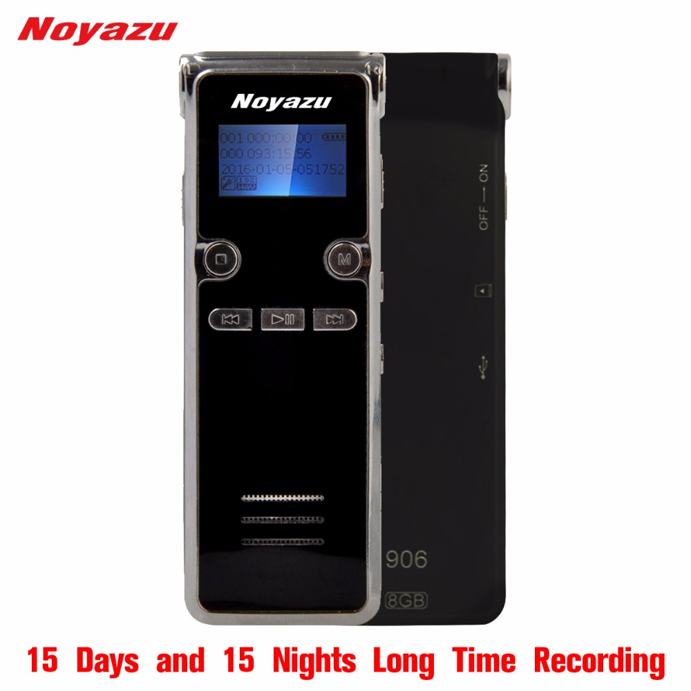 Noyazu 906 Rechargeable 8GB Digital Audio Sound Voice Recorder Dictaphone MP3 Player High Quality Mini Digital Voice Recording