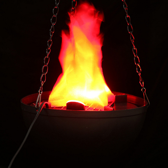 Prop decor led hanging fake flame lamp torch light fire for Hanging fire bowl