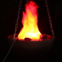 Prop Decor LED Opknoping Nep Vlam Lamp Zaklamp Fire Pot Kom Halloween