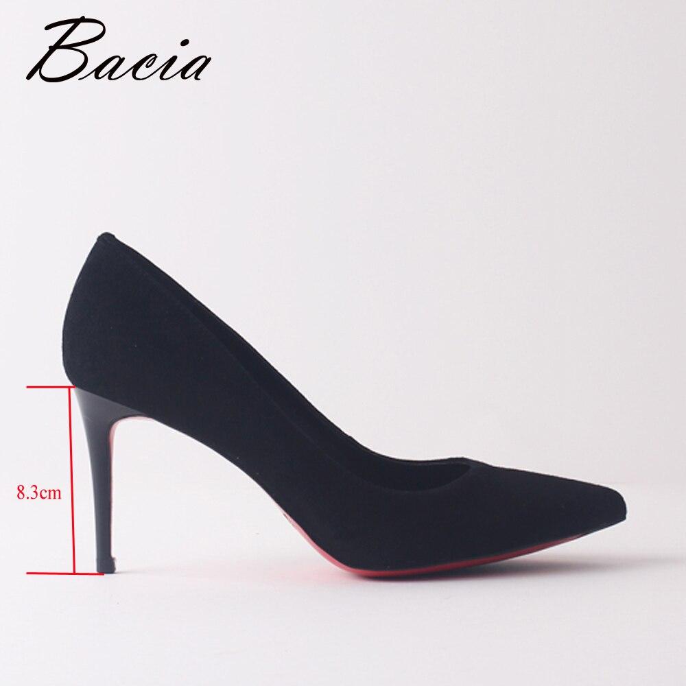 Chaussures Talons Black Daim De 41 Pompe Bacia Mariage Pompes Taille Moutons Classique Robe Femmes Bal Grande 33 2018 Sexy Talon Mince Sa101 Mode Hauts xwHqp4