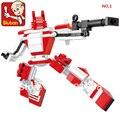 Brinquedos educativos para crianças Sluban Blocos De Construção De robôs auto-travamento tijolos Compatíveis com Lego