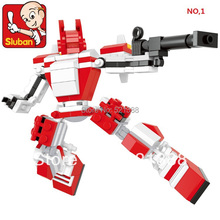 Educational Toys for children Sluban Building Blocks robots self-locking bricks Compatible with Lego