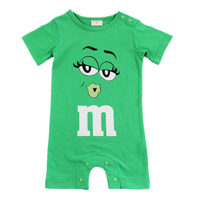 2019 Summer Baby Boy Romper Short Sleeve Cotton Infant Jumpsuit Cartoon Printed Baby Girl Rompers Newborn Baby Clothes 4 Color 1