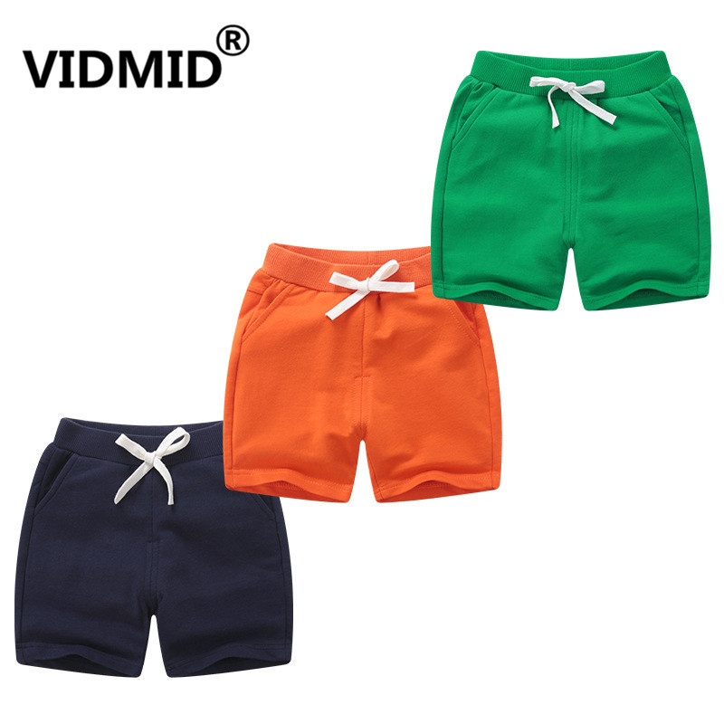 VIDMID New Summer Cotton Children Shorts For Boys Girls Boys Beach Trousers Solid Color Kids Casual Shorts Baby Clothing 7042 06