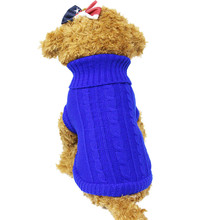 Excessive High quality Pet Canine Cat Garments Winter Heat Sweater Knitwear for Canines Pet Coat Attire