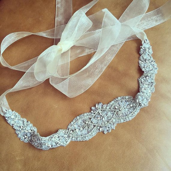 Wedding Gowns With Sashes: MissRDress Pearls Bridal Belt Hand Beaded Wedding Belt
