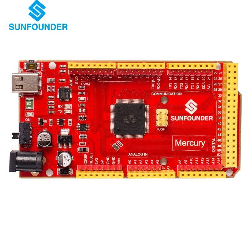 Mercury доска для Arduino Mega2560 54 цифровой I/OS Шпильки 16 аналоговых входов 256kb программы для хранения 16 мГц кристалл осциллятор ...