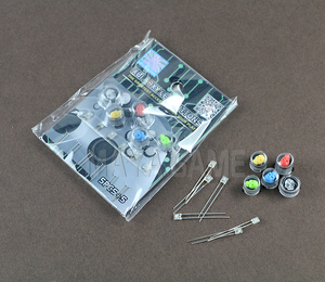 Image 5 - Yeni kafatası hayalet ABXY LED ışık Up düğmeleri Joystick Xbox One denetleyicisi için
