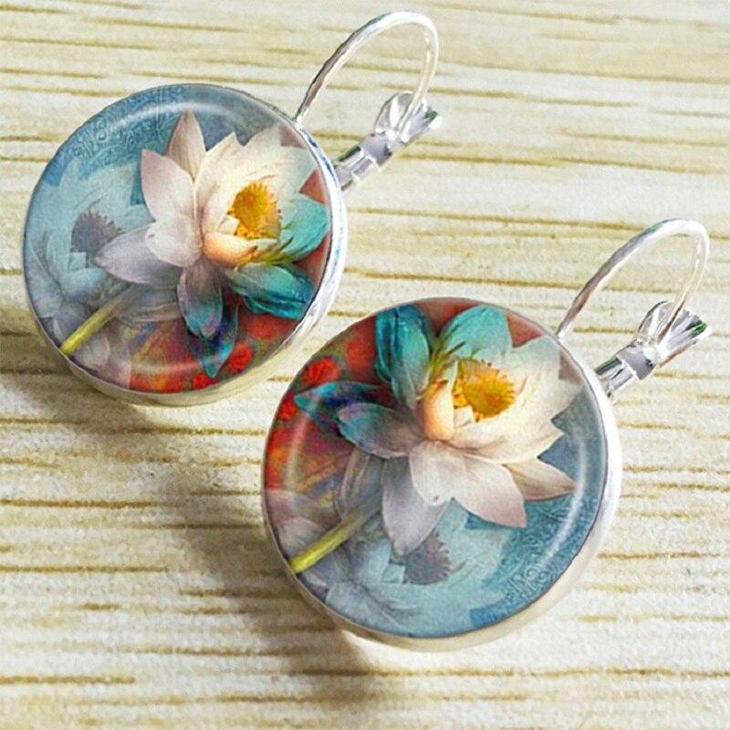 Exknl Boho Flower Drop Earrings For Women Vintage Jewelry Geometric Pattern Round Earings Bijoux boucles d'oreilles bohemia 20