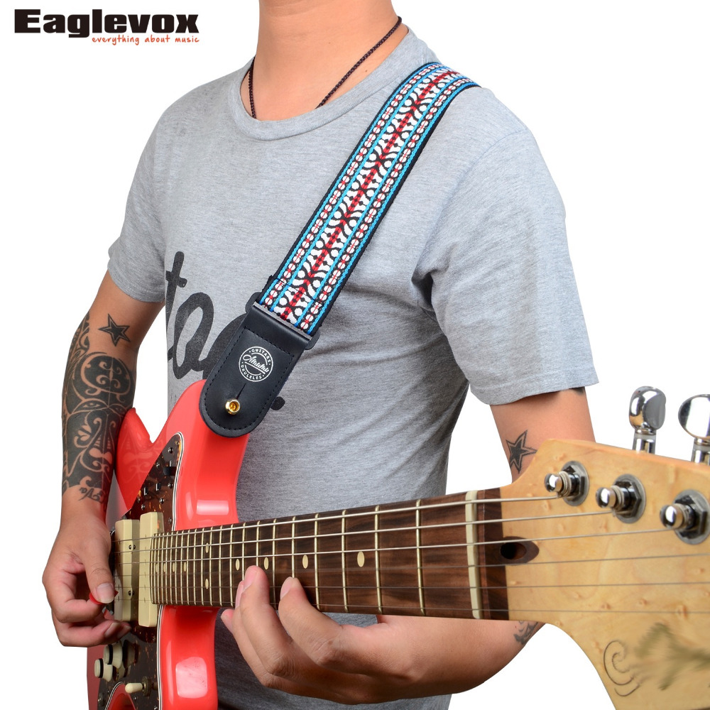 Amumu Traditional Weaving Patterns Cotton Guitar Strap for Classical Acoustic Folk Guitar Guitar Belt  S113 two way regulating lever acoustic classical electric guitar neck truss rod adjustment core guitar parts