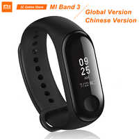 "Bracelet Original Xiao mi mi Band 3 Band3 Bracelet intelligent 0.78 ""OLED Message instantané identification de l'appelant mi band 3 Tracker de remise en forme"