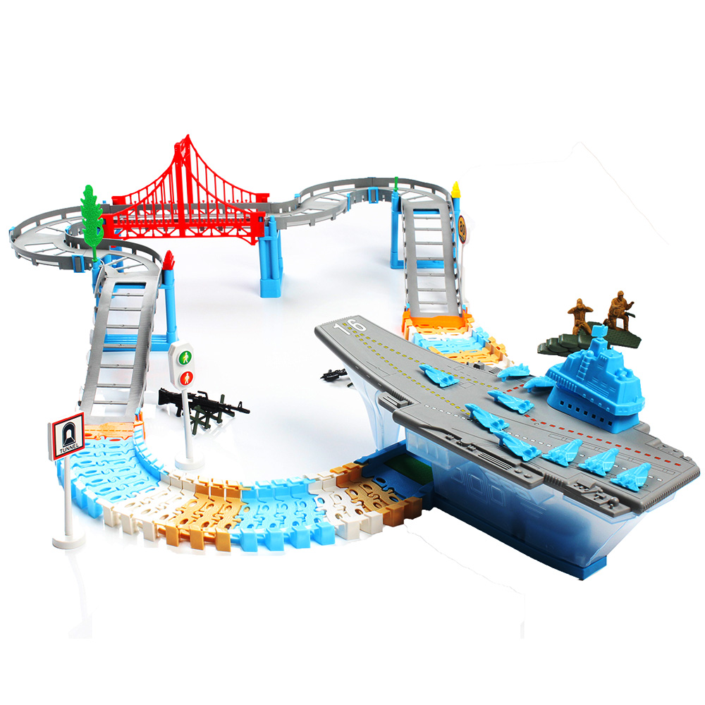 DIY Hot Wheel Car Electric Variety Multi track Magic Racing Assembling Toy Set Children Mini Fast Track Toys Baby Gifts