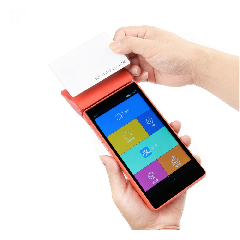 5 5 Inch Touch Screen 4G android 5 1 wireless POS Terminal Mobile Handheld Credit Card