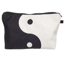 Chinese yin yang 3D printing cosmetic bag Zohra trousse de maquillage necessaire women neceser para mujer trousse de toilette