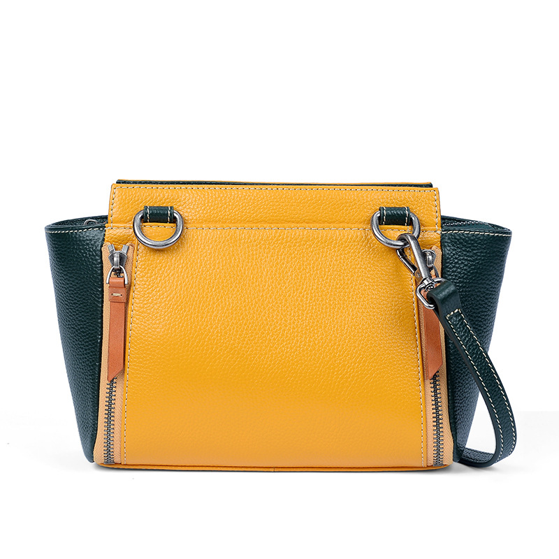 Leather bag female 2018 autumn new fashion Korean version of the large-capacity mini wing bag Crossbody shoulder bag