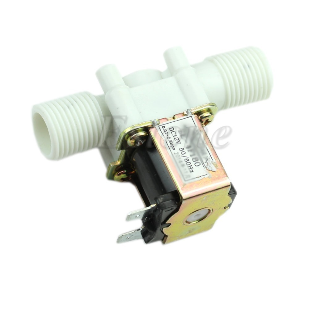 New 12V Electric Solenoid Valve Magnetic DC N/C Water Air Inlet Flow Switch 1/2 ...