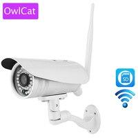 Owlcat 3516C + SONY323 низкой освещенности Full HD 1080 P 2MP Пуля IP Камера Wi-Fi открытый Водонепроницаемый ИК SD карта микрофон двухстороннее aduio Talk