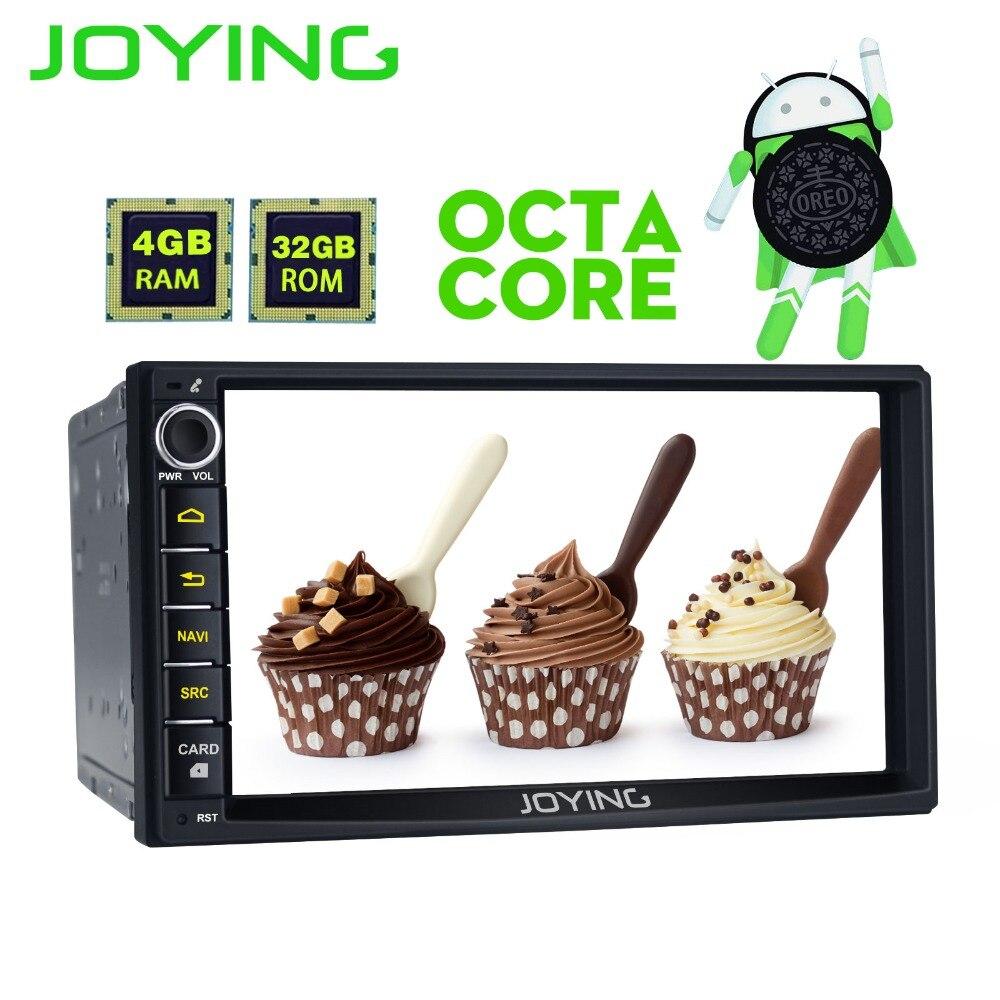 Joying 2 דין ראש יחידה 4 gb RAM אנדרואיד 8.0 אוניברסלי רכב רדיו סטריאו GPS מולטימדיה נגן קלטת מקליט תמיכה OBD2 Carplay
