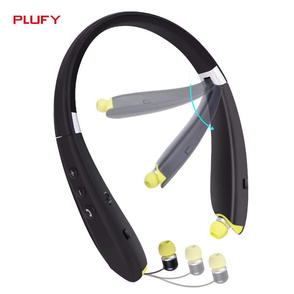 PLUFY Sports Bluetooth Headset 4.1 Subwoofer Wireless Music Running Headphones Neck hanging for Xiaomi iPhone AndroidPLUFY Sports Bluetooth Headset 4.1 Subwoofer Wireless Music Running Headphones Neck hanging for Xiaomi iPhone Android