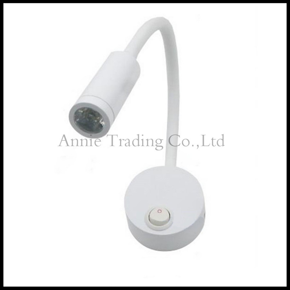 LED Bedroom Bedside Lamp Reading Wall Lamps With Switch 3W 100 240V Wall  Light Adjustable