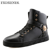 FXDXENEK Brand New Winter Men Boots Leather Boots High quality Men Winter Shoes Work & Safety Snow Boots For Men Flats Shoes