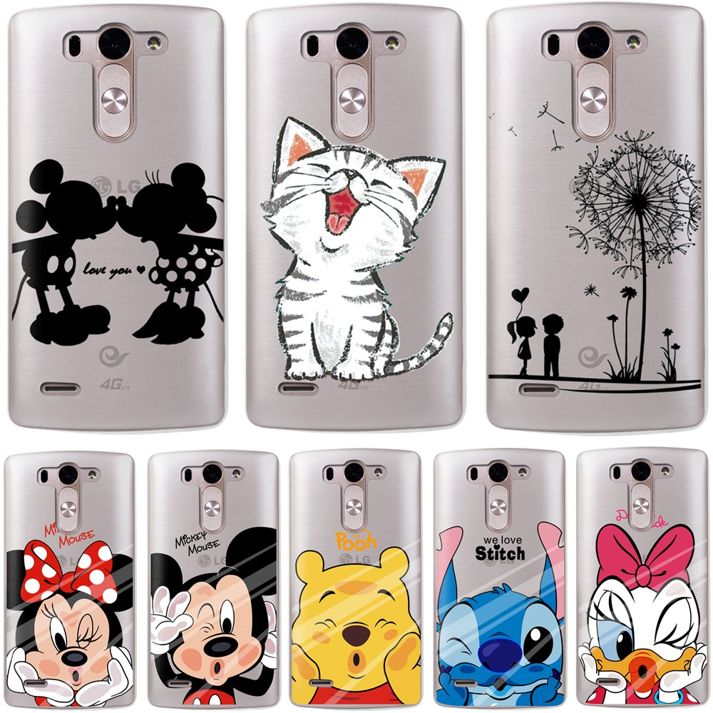 "G3 D855 Cartoon Soft TPU Silicone Case For LG Optimus G3 D855 D856 D857 D859 D858 5.5"" Cover Cell Phone Protect ShockProof Bag"