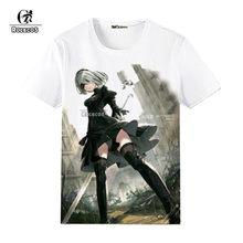 1e77dfbd8 ROLECOS Anime juego Nier autómatas T camisa Cosplay disfraces YoRHa n° 2, tipo  B 2B 9 S manga corta cálido suave T Shirt