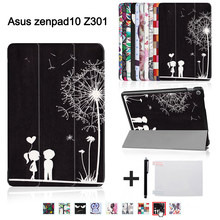 "Printed funda cover for ASUS Zenpad 10 Z301MLF Z301ML Z301 10.1"" Tablet(2017 new release) magnetic ultra slim stand case+gift(China)"