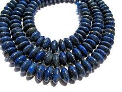 Lot lapis lazuli stein lapis lazulite korn Rondelle Abacus pinwheel blau lose perlen 3x6 4x7 5x8mm x5strands