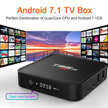 купить Amlogic Stream T95M Android 7.1 TV Box 1G 8GMedia Players 2.4G WiFi Amlogic S905X Quad Core H.265 4K TV BOX дешево