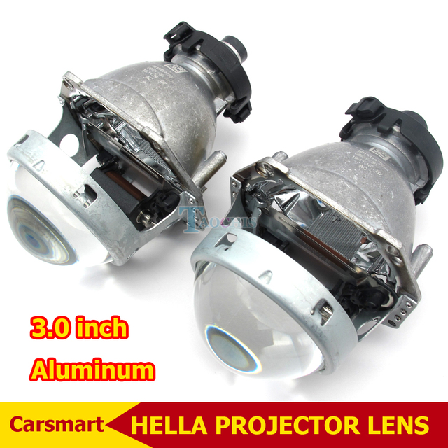 Aluminio 3.0 Pulgadas Bi Xenon Lente Del Proyector Hella D2S Hid Faros Lente Del Proyector Del Coche Modifican Reflector Hi/lo Viga