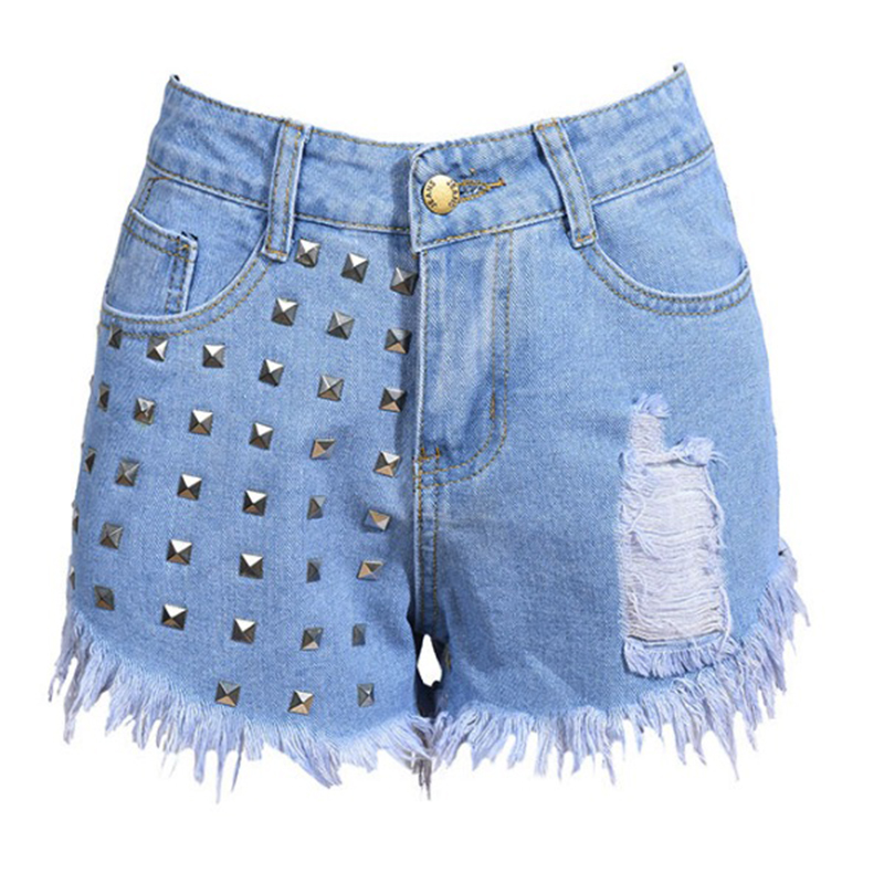 2020 high street Jeans Women tassel washed High Waist Skinny Denim Pants short Jeans shorts women embroidery flares jeans woman
