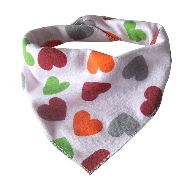 New Baby Bib For Girls Cartoon Print Bibs & Burp Cloths Cotton Bandana For Babies Fashion Infant Unisex Triangle Scarf