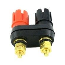 цена на 5pcs Good quality Banana plugs Couple Terminals Red Black Connector Amplifier Terminal Binding Post Banana Speaker Plug Jack