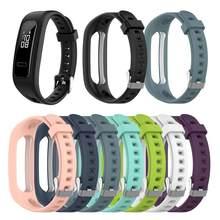 Siliconen Sport Horloge Band Strap Voor Huawei Band 3e 4e Huawei Honor Band 4 Running Versie Smart Horloge Armband Pols band 2021