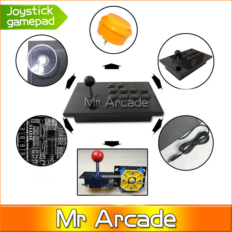 Computer PC USB arcade joystick gamepad game controller joypad, plug and play, real street fighting feeling best selling usb wired game controller for xbox360 gamepad joypad joystick for xbox 360 controller slim accessory pc computer