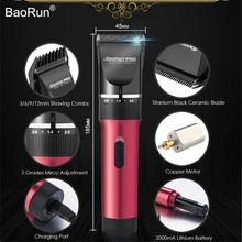 Professional Hair Trimmer 2000mAh Lithium Battery Titanium Blade Rechargeable Hair Clipper for Men Barber Hair Cutting Machine(China)
