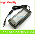 19V 6.3A 120W AC laptop adapter power supply for Toshiba Satellite L775 L870 L875D M18 M19 M60 M65 P200D P205D P30 charger