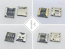 OPPO X909 Gionee F100 P6 P7 MOLEX ALPS LCN 6/10PIN Push - pull Patch Micro SIM Card สล็อตผู้ถือถาด PCB Board Connector(China)