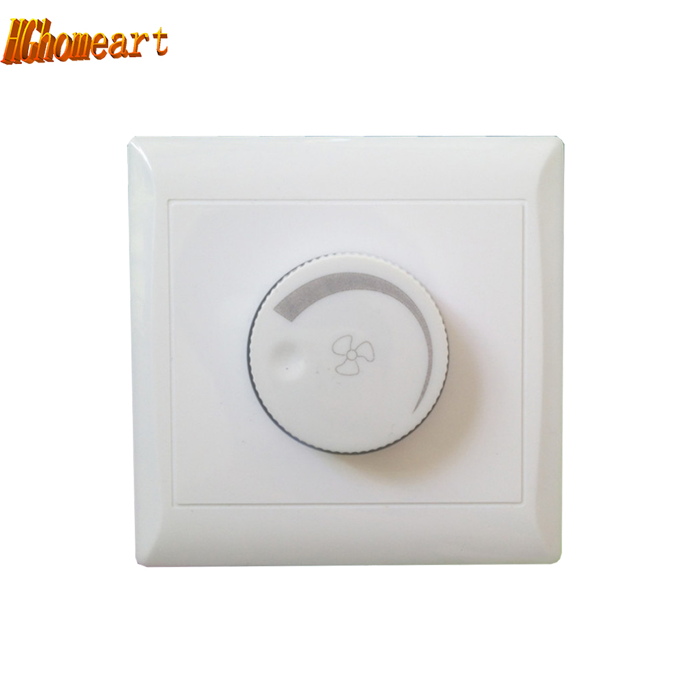 HGhomeart Ceiling Fan Speed Control Switch Wall Button Lighting accessories  Dimmer Switch 110V 220v 10A Dimmer Extension socket-in Dimmers from Lights