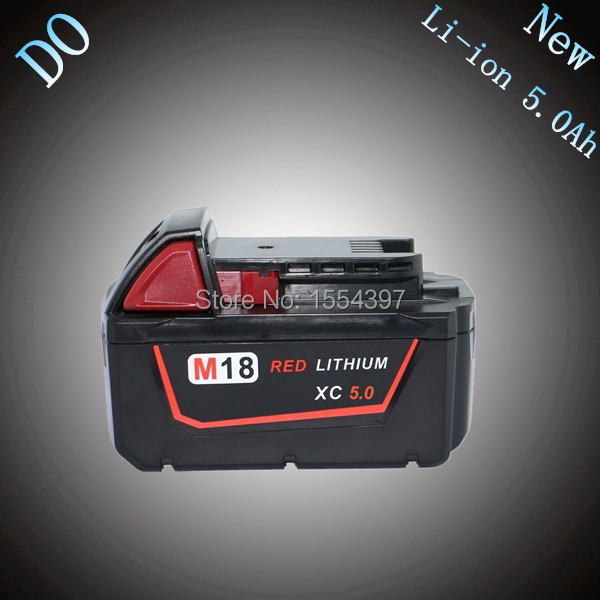 M18 XC 5000mAh 18V Rechargeable Lithium Ion Replacement Power Tool Battery for Milwaukee 48-11-1815 M18B2 M18B4 M18BX M18BX New цена