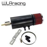 WLR Universal 0.3L Brushed baffled oil separator catch can tank with breather filter Vented For BMW WLR TK88