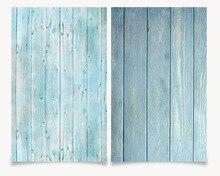 Фотостудия 3D печать синий деревянный цвет 58x86 см фотография фон водонепроницаемый для еды фото