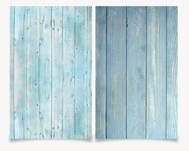 Photo Studio 3D Printing Blue Wood Color 58x86cm Photography Background Waterproof for food