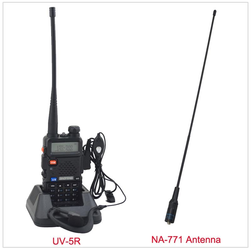 baofeng radio dualband UV-5R walkie talkie radio 136-174/400-520MHz two way radio with free earpiece & Free NA-771 Antenna
