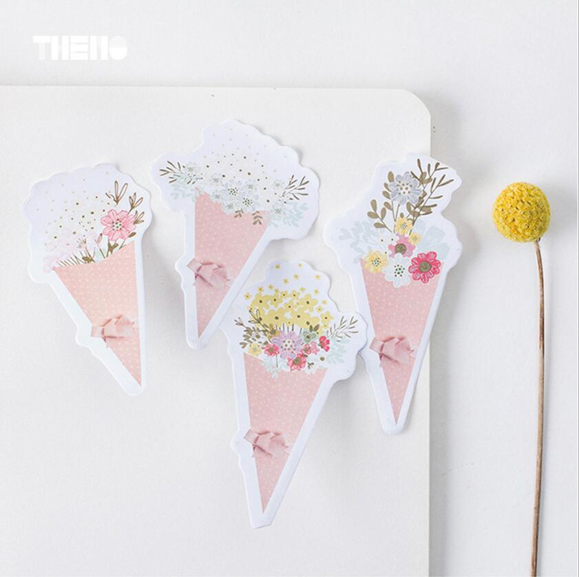 1 pcs Floral series sticky note 30 sheet flower memo pad plas