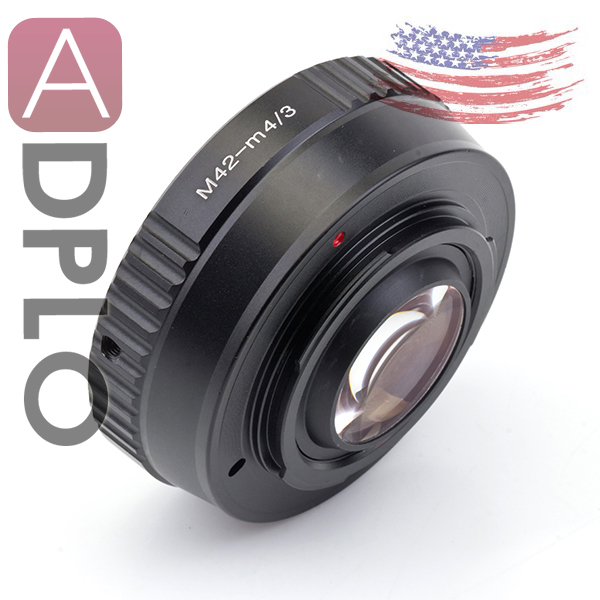 Pixco M42-M4/3 Focal Reducer Speed Booster Lens Adapter Ring Suit For M42 Lens to Micro 4/3 LUMIX GX7 GF6 GH3  OM-D E-M1