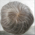 Mens Toupee Curly Hair Replacement System French Lace and pu Base 100% Natural Hair Free Style Hair Pieces System H067