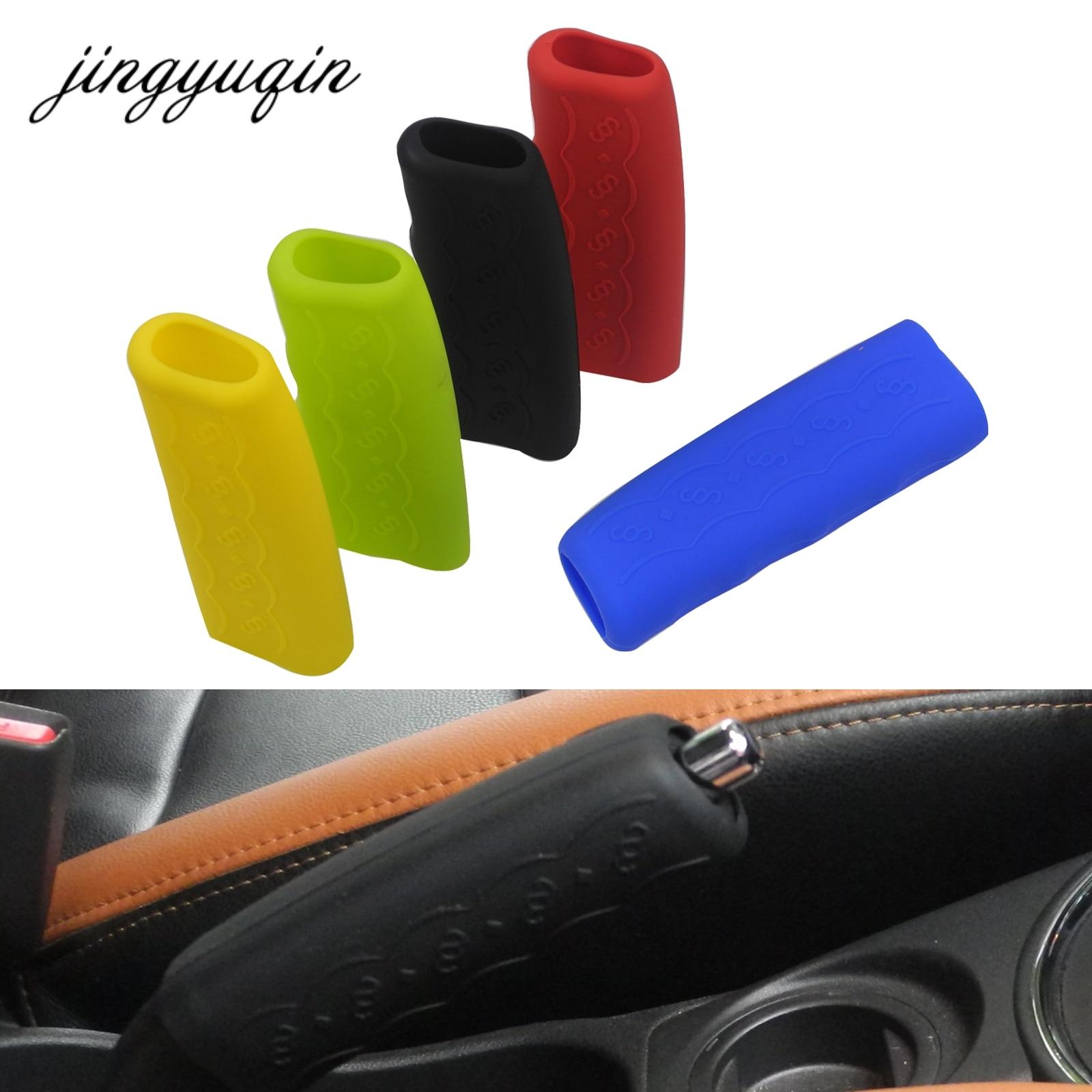 Jingyuqin 10pcs/lot Anti-slip Car Handbrake Covers Sleeve Silicone Gel Case Parking Hand Brake Grips Sleeve Universal Decoration