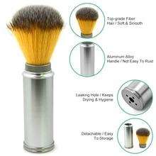 Men Shaving Brush Luxury Badger Bristles Shaving Razor Beard Brush Barber Salon Facial Beard Comb Cleaning Tool Metal Base